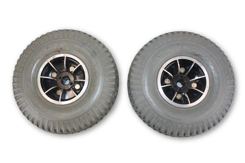 Pronto M41 Power Trax Flat Free Wheels | 3.00-4 (10x3) Quickie Compatible - Power Chairs Test