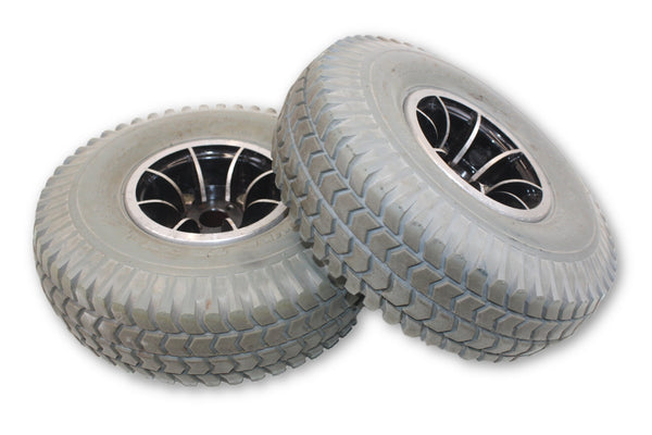 Pr1mo Power Trax Flat Free 3.00-4 (10x3) Replacement Wheels | Good Tread