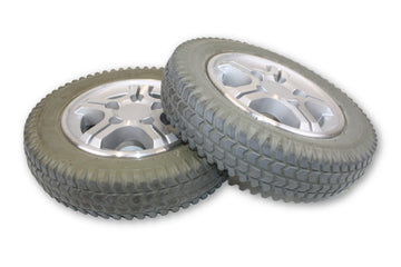 Quickie PowerTrax Flat Free Wheels (14x3) 3.00-8 Rims & Tires | Good Tread