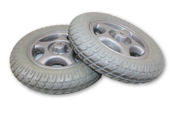 "PR1MO Durotrap 3.00-8 (14""x3"") Flat Free Foam Replacement Rims & Tires"