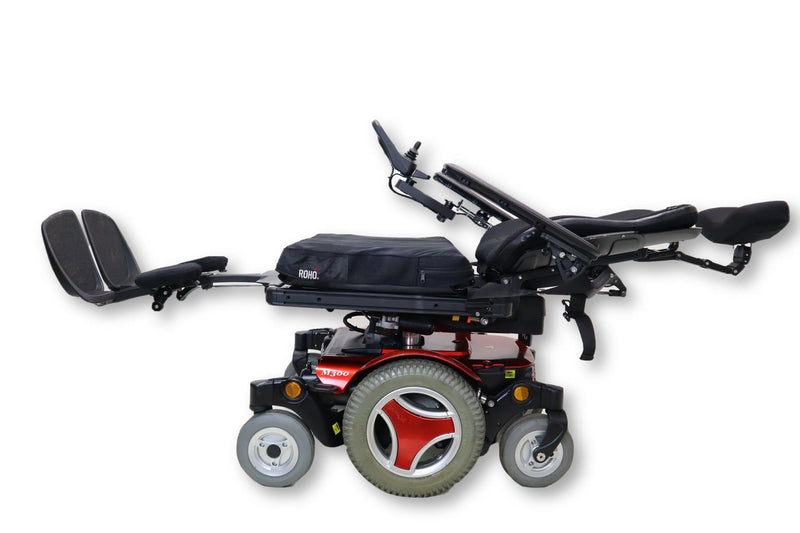 "Permobil M300 Electric Wheelchair | Seat Elevate | Tilt | Recline | Leg Elevate | 17"" x 18"" Seat - Power Chairs Test"