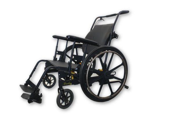 PDG Bentley Black Tilt-In-Space Manual Wheelchair | Self Tilt