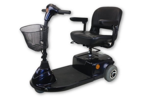 "Invacare Navy Blue Lynx L-3X Electric 3-Wheel Mobility Scooter | 18""x17"" Seat"