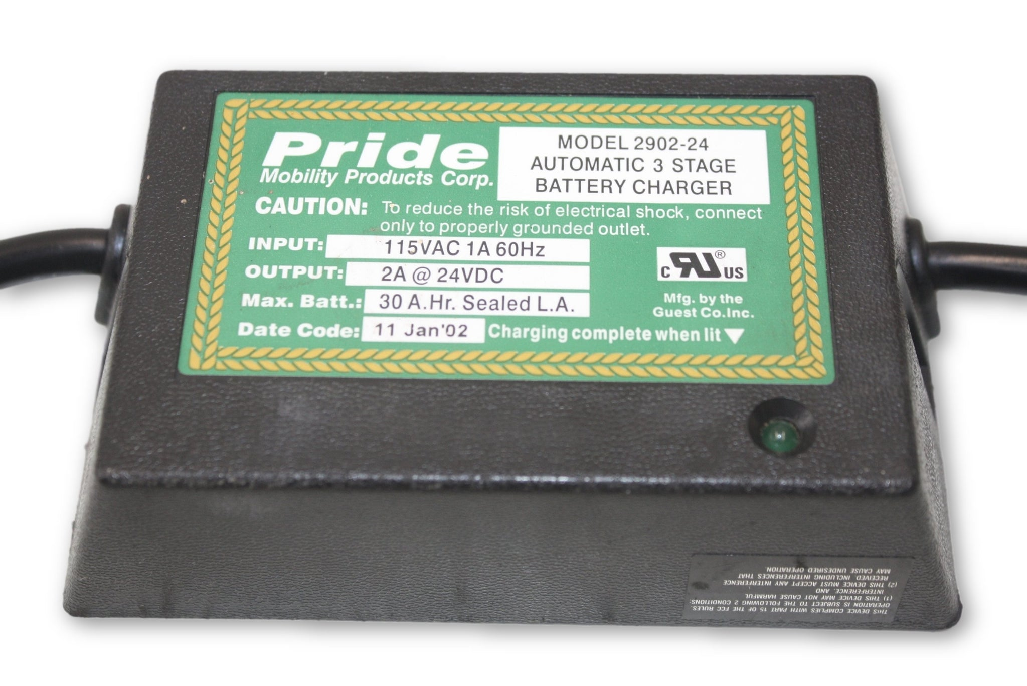 USED Pride Mobility Scooter Battery Charger | 2902-24