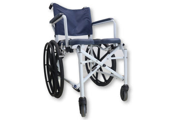 "Invacare Mariner Rehab Shower Chair Commode | 18"" x 18"" Padded Seat Cushion"