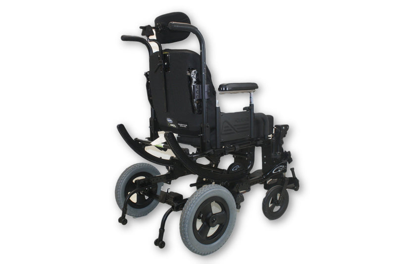 Quickie Iris Tilt-In-Space Manual Transport Wheelchair With Manual Leg Elevate - Power Chairs Test