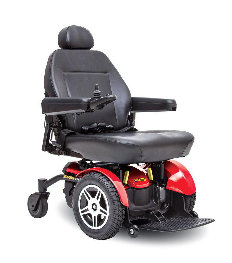 "Red New Pride Mobility Jazzy Elite HD Power Chair | 18"" - 22""W x 18"" - 22""D Seat"