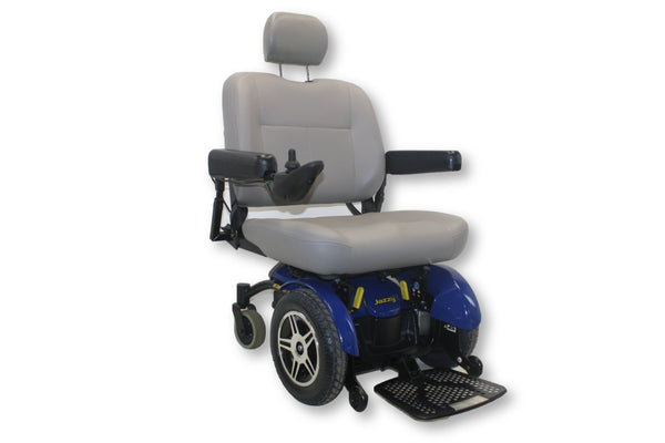 Jazzy Elite HD Blue Electric Wheelchair By Pride Mobility | 450lbs. Capacity - Power Chairs Test