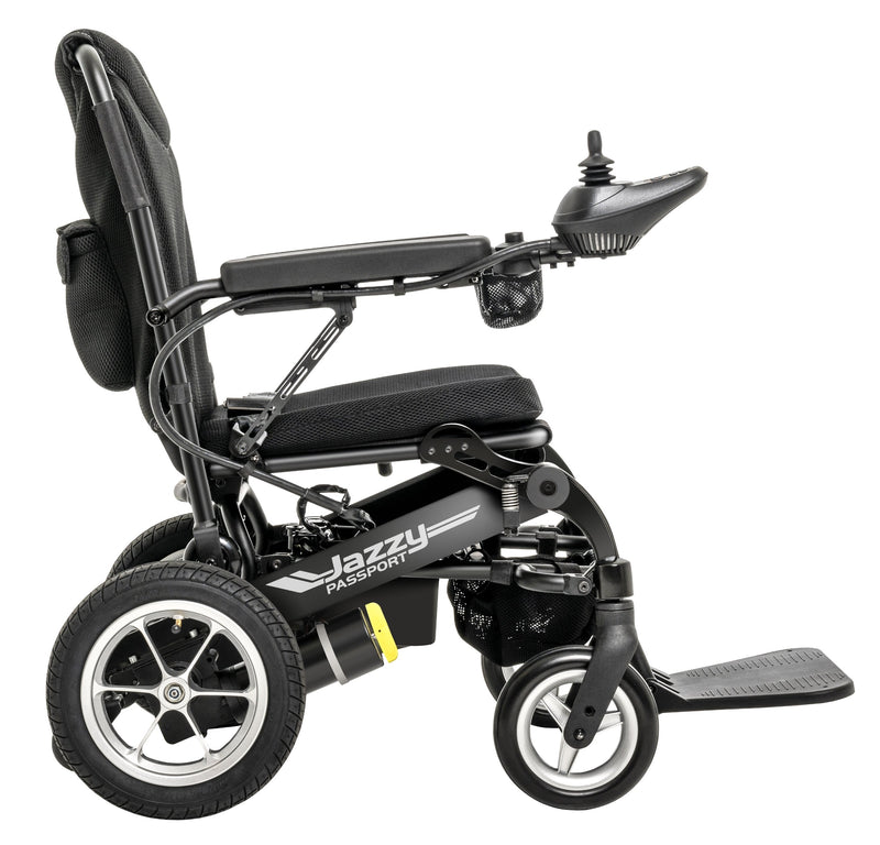 "Other side of New Pride Mobility Jazzy Passport Power Chair | 18"" x 16"" Seat"