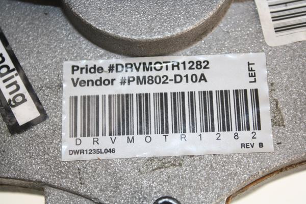 Pride Mobility Jazzy Select Left Motor For Electric Wheelchairs | DRVMOTR1282 - Power Chairs Test