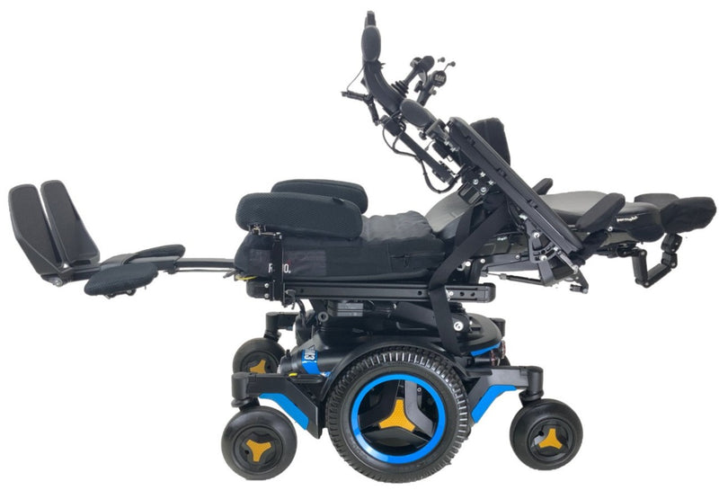 Lay flat on the Like New 2020 Permobil M3 Power Chair | 19 x 20 Seat | Tilt, Recline, Power Legs | Only 25 Miles!