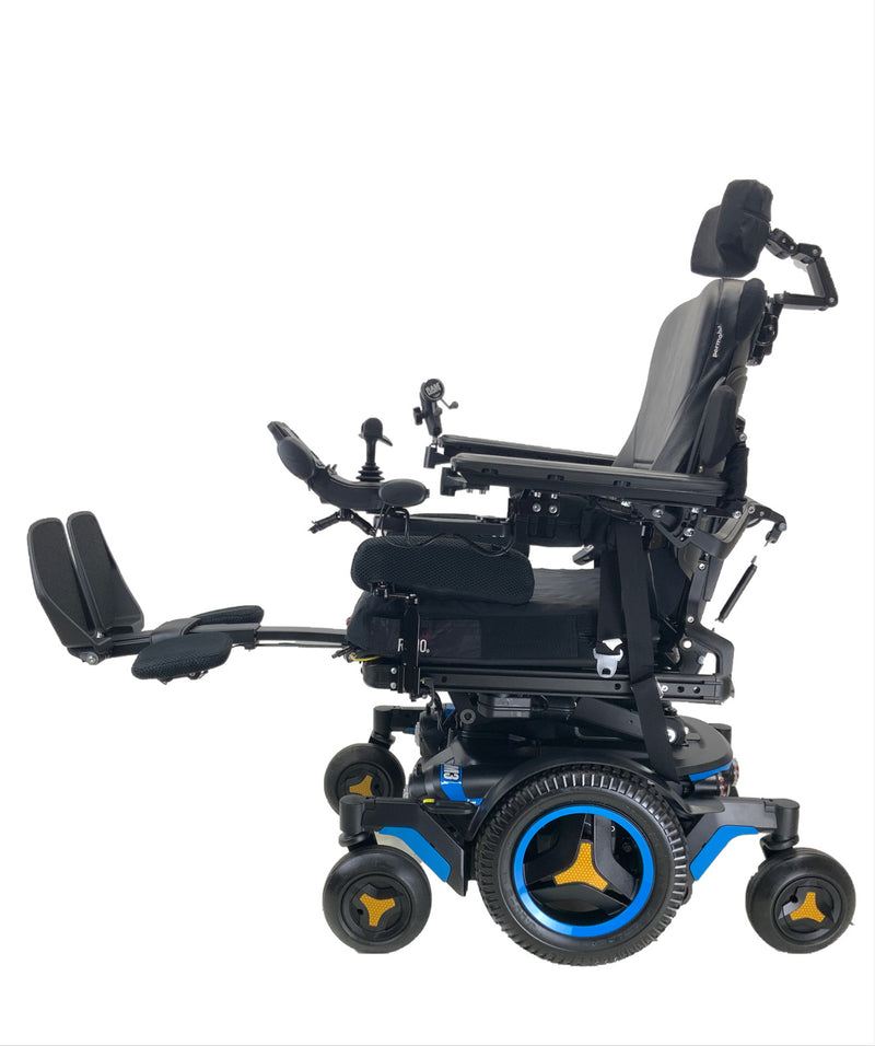 Legs up on the Like New 2020 Permobil M3 Power Chair | 19 x 20 Seat | Tilt, Recline, Power Legs | Only 25 Miles!