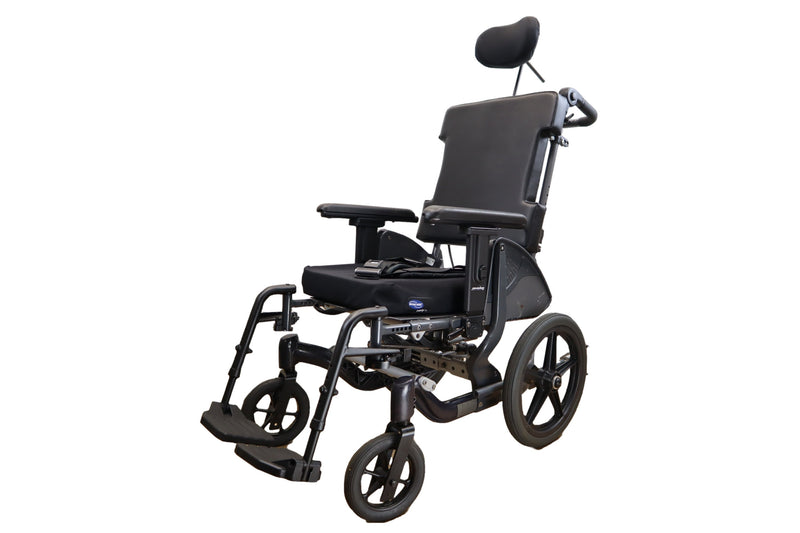 "PDG Fuze T50 Tilt In Space Manual Wheelchair | 250 lbs Capacity | 16"" x 18"" Seat - Power Chairs Test"