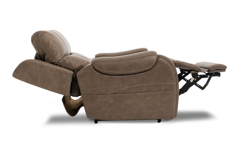 Pride VivaLift Atlas PLR-985M Lift Chair Recliner Mushroom Power Headrest