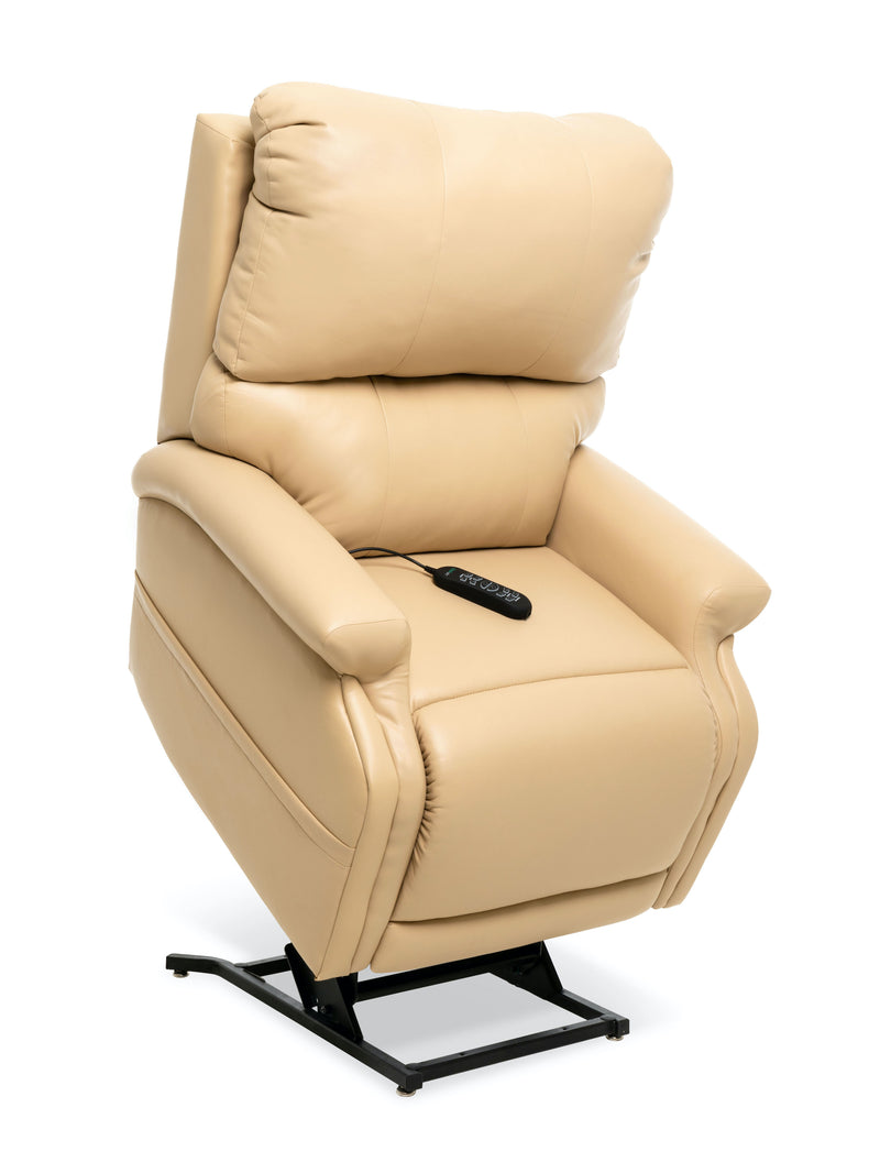 Lifted Buff Pride Mobility VivaLift Escape PLR-990i (Medium) Lift Chair Recliner