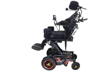 "Permobil F3 Power Chair | 12"" Seat Elevate, Tilt, Recline & Power Legs 