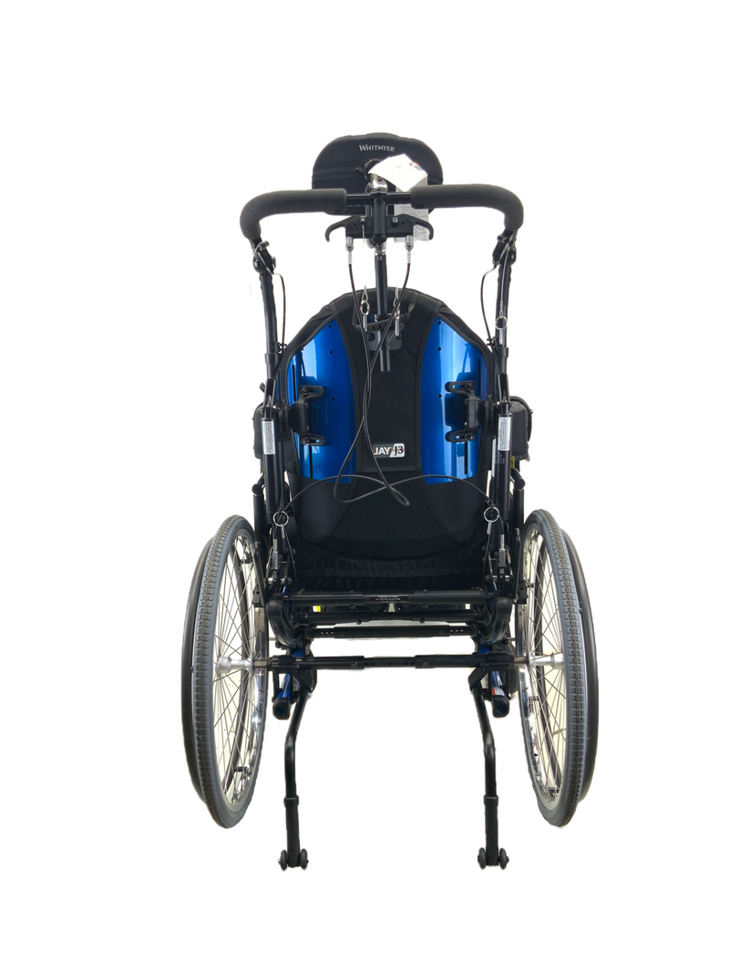 Back of New Quickie Iris Tilt-In-Space Manual Wheelchair | 17 x 21 Inches | Tilt, Recline, Heavy Duty Frame