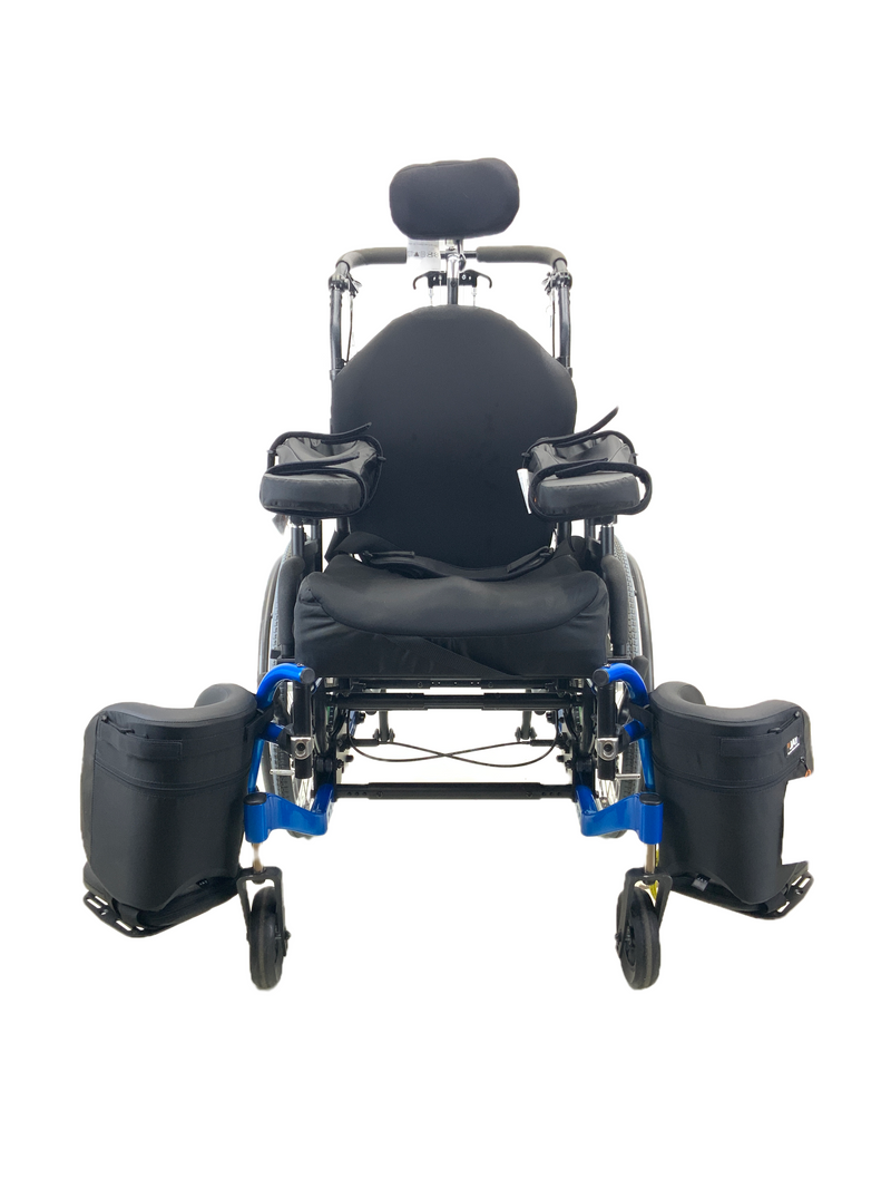 Swung Leg Rests on New Quickie Iris Tilt-In-Space Manual Wheelchair | 17 x 21 Inches | Tilt, Recline, Heavy Duty Frame