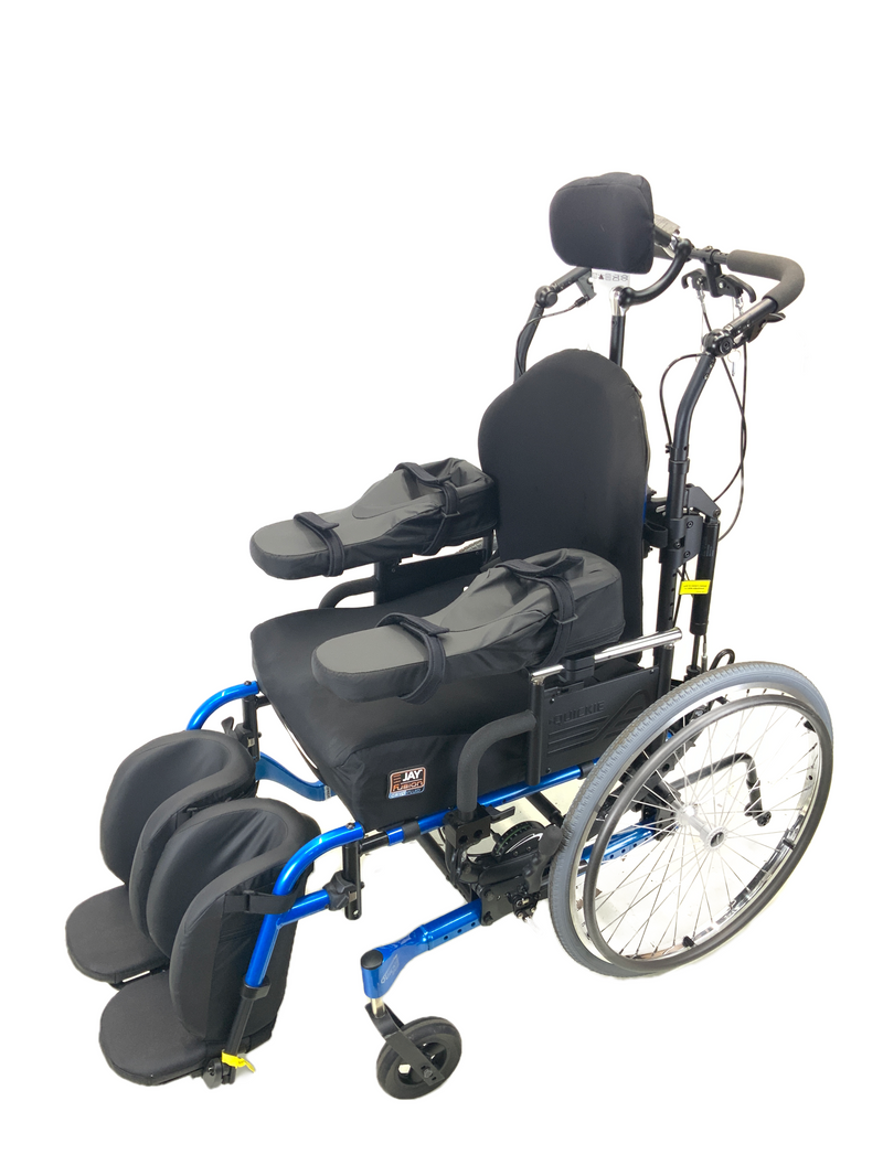 Top view of New Quickie Iris Tilt-In-Space Manual Wheelchair | 17 x 21 Inches | Tilt, Recline, Heavy Duty Frame