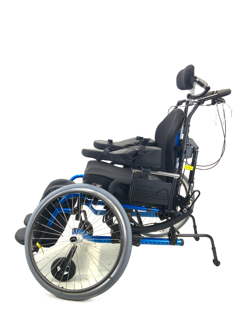 New Quickie Iris Tilt-In-Space Manual Wheelchair | 17 x 21 Inches | Tilt, Recline, Heavy Duty Frame has quick release wheels