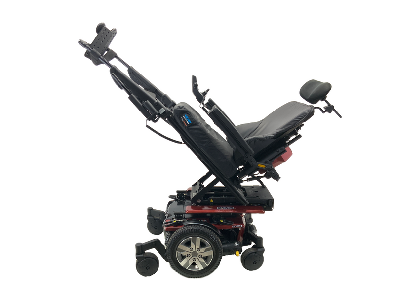Tilted with power legs on Quantum Q6 Edge 2.0 iLevel Power Chair | 19 x 20 Seat | Tilt, Recline, Individual Power Legs, Seat Elevate