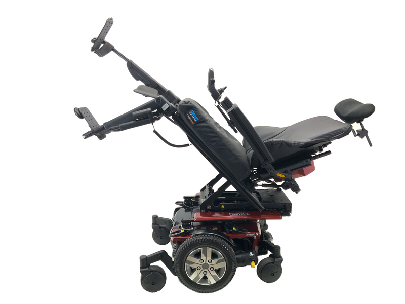 Tilted with individual power legs Quantum Q6 Edge 2.0 iLevel Power Chair | 19 x 20 Seat | Tilt, Recline, Individual Power Legs, Seat Elevate