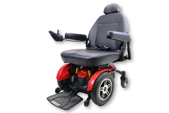 Pride mobility jazzy jazzy elite hd power chair with manual seat recline clean