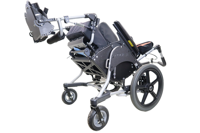 Pride Mobility Quantum Kids Rock 3 Tilt in Space Manual Wheelchair | Transit Options | Adjustable Leg Rest | Thigh & Lateral Supports - Power Chairs Test