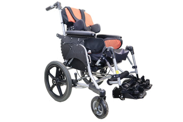 Pride Mobility Quantum Kids Rock 3 Tilt in Space Manual Wheelchair | Transit Options | Adjustable Leg Rest | Thigh & Lateral Supports