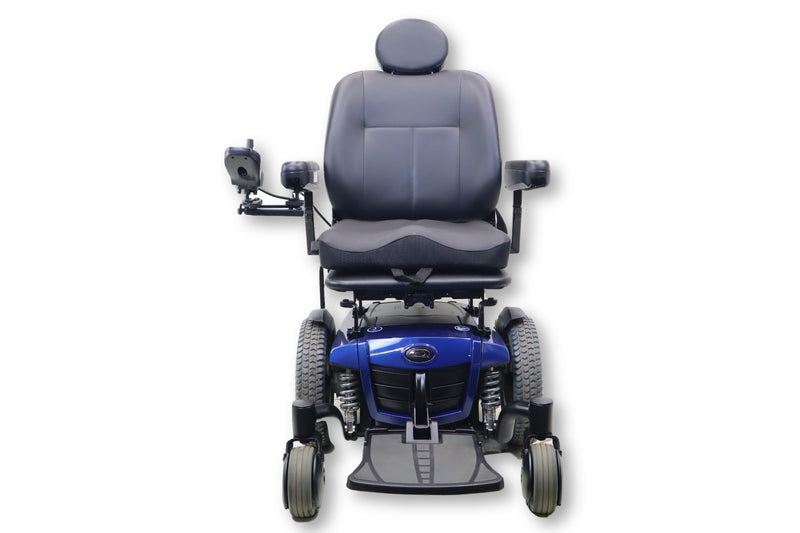 "Quantum Q6 Edge Electric Powered Wheelchair By Pride Mobility | Blue Exterior | Swing-Away Joystick | 18"" x 18"" Seat - Power Chairs Test"