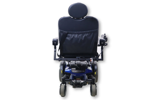 Quantum Q6 Edge Electric Powered Wheelchair By Pride Mobility | Blue Exterior | Swing-Away Joystick | 18