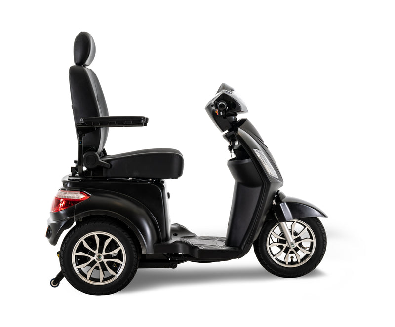 Side of New Pride Mobility Raptor 3-Wheel Recreational Mobility Scooter | Max Speed 14 MPH | 400 LBS Weight Capacity
