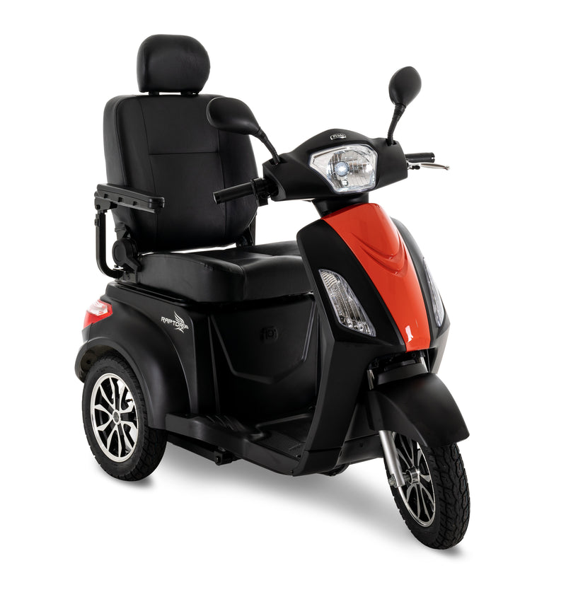 Orange New Pride Mobility Raptor 3-Wheel Recreational Mobility Scooter | Max Speed 14 MPH | 400 LBS Weight Capacity
