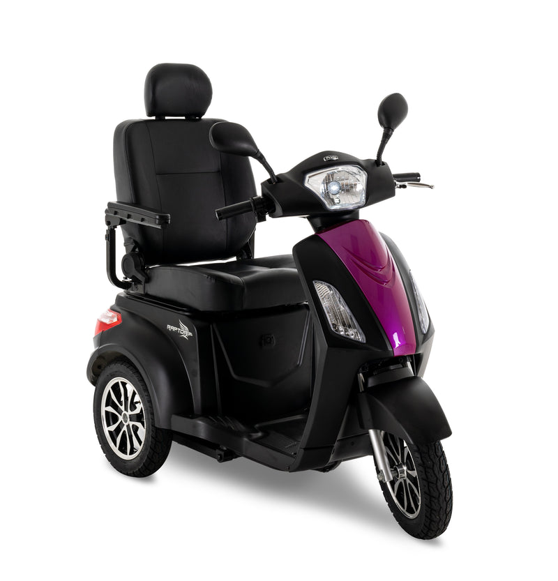 Pink New Pride Mobility Raptor 3-Wheel Recreational Mobility Scooter | Max Speed 14 MPH | 400 LBS Weight Capacity