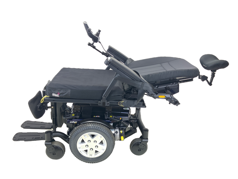 Reclined Quantum Q6 Edge HD Power Chair | 19 x 21 Seat | Tilt, Recline, Power Legs | Only 12 Miles