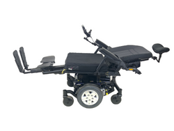 Reclined and legs on Quantum Q6 Edge HD Power Chair | 19 x 21 Seat | Tilt, Recline, Power Legs | Only 12 Miles