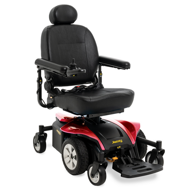"Red New Pride Mobility Jazzy Select 6 2.0 Power Chair | 16"" - 20""W x 16"" - 20""D Seat 