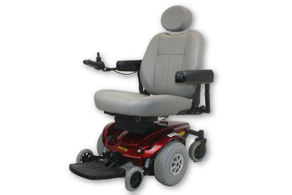 "Pride Mobility Jazzy Select Red Electric Power Wheelchair | 20""x20"" Seat"