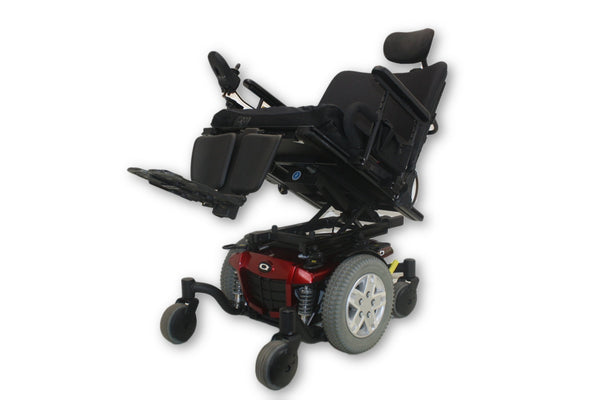 Quantum Q6 Edge Red Electric Wheelchair With Tilting Function By Pride Mobility