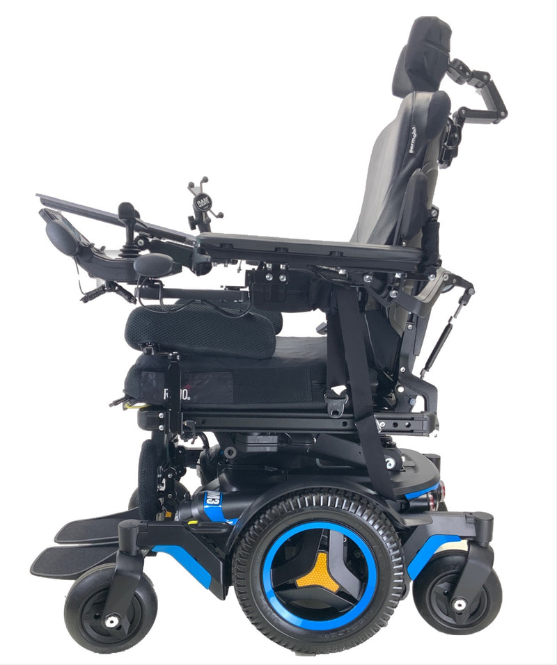 Side of the Like New 2020 Permobil M3 Power Chair | 19 x 20 Seat | Tilt, Recline, Power Legs | Only 25 Miles!