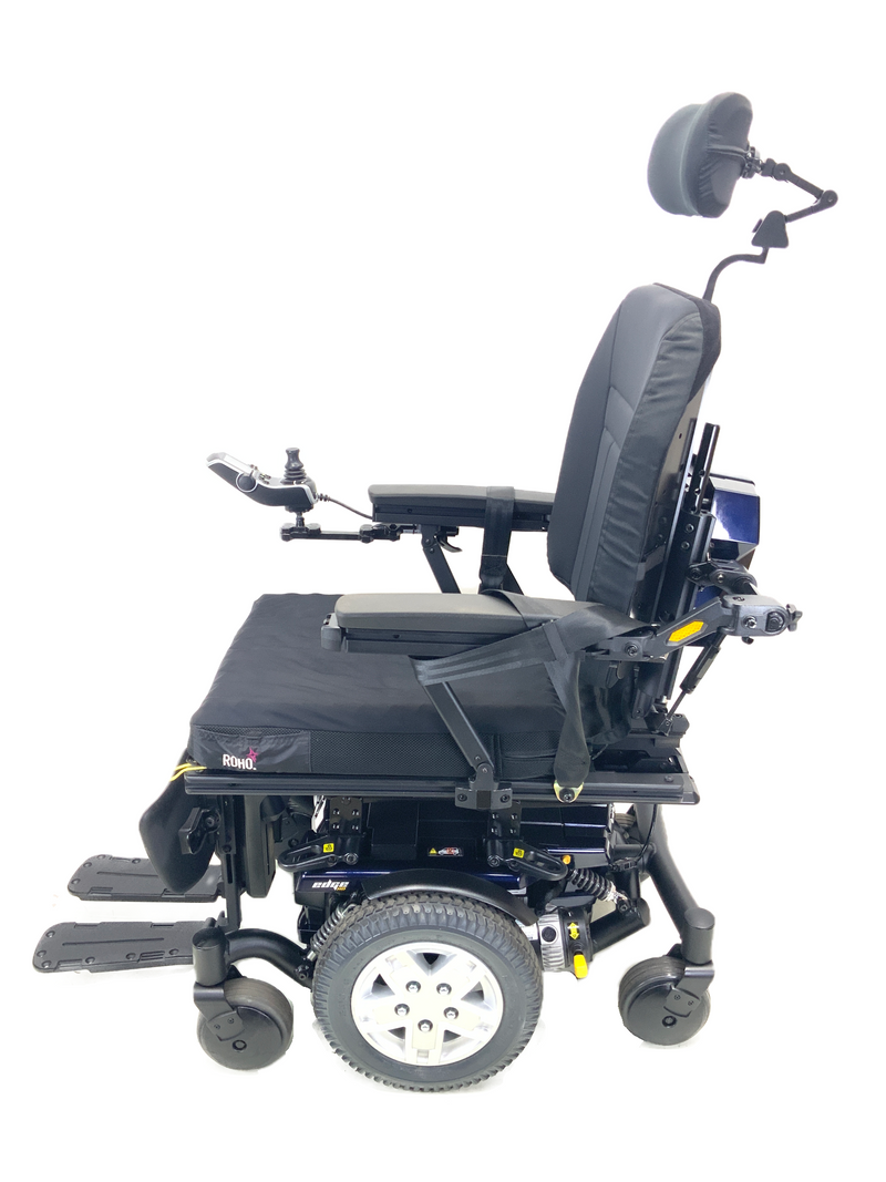 Side of Quantum Q6 Edge HD Power Chair | 19 x 21 Seat | Tilt, Recline, Power Legs | Only 12 Miles