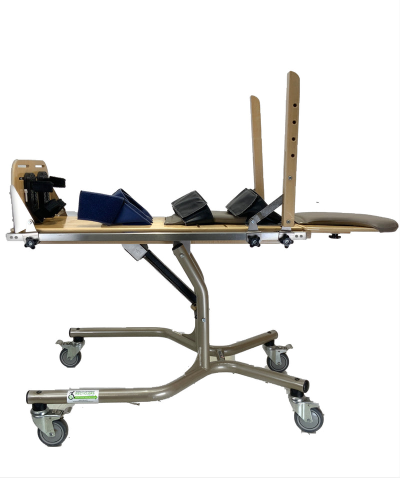 Side view of Rifton E420 Pediatric Supine Stander  Safe and Secure Stander For All