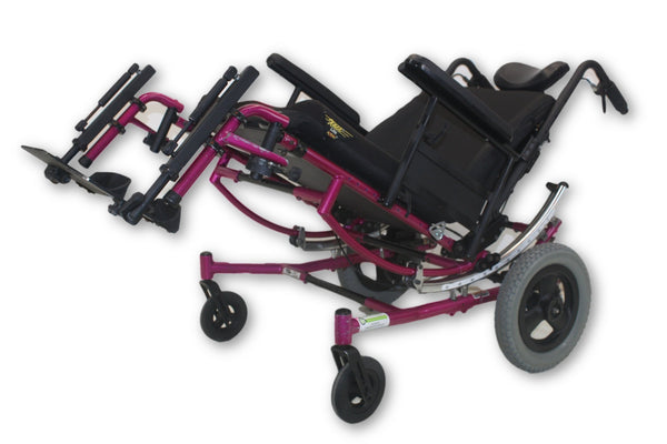 "Invacare Solara Tilt-In-Space Manual Transport Pink Wheelchair | 20""x22"" Seat"