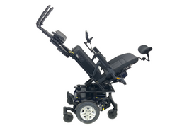 Tilted and legs on Quantum Q6 Edge HD Power Chair | 19 x 21 Seat | Tilt, Recline, Power Legs | Only 12 Miles