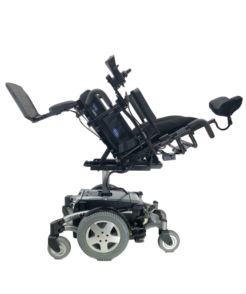 Tilted Like New Invacare TDX SP Rehab Power Chair | 17 x 20 Seat | Tilt & Seat Elevate