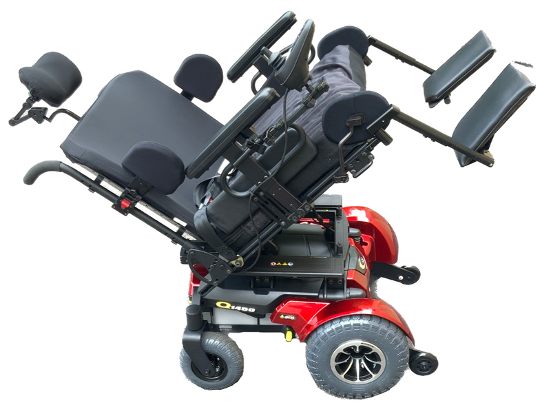 Tilted Quantum 1450 Power Chair