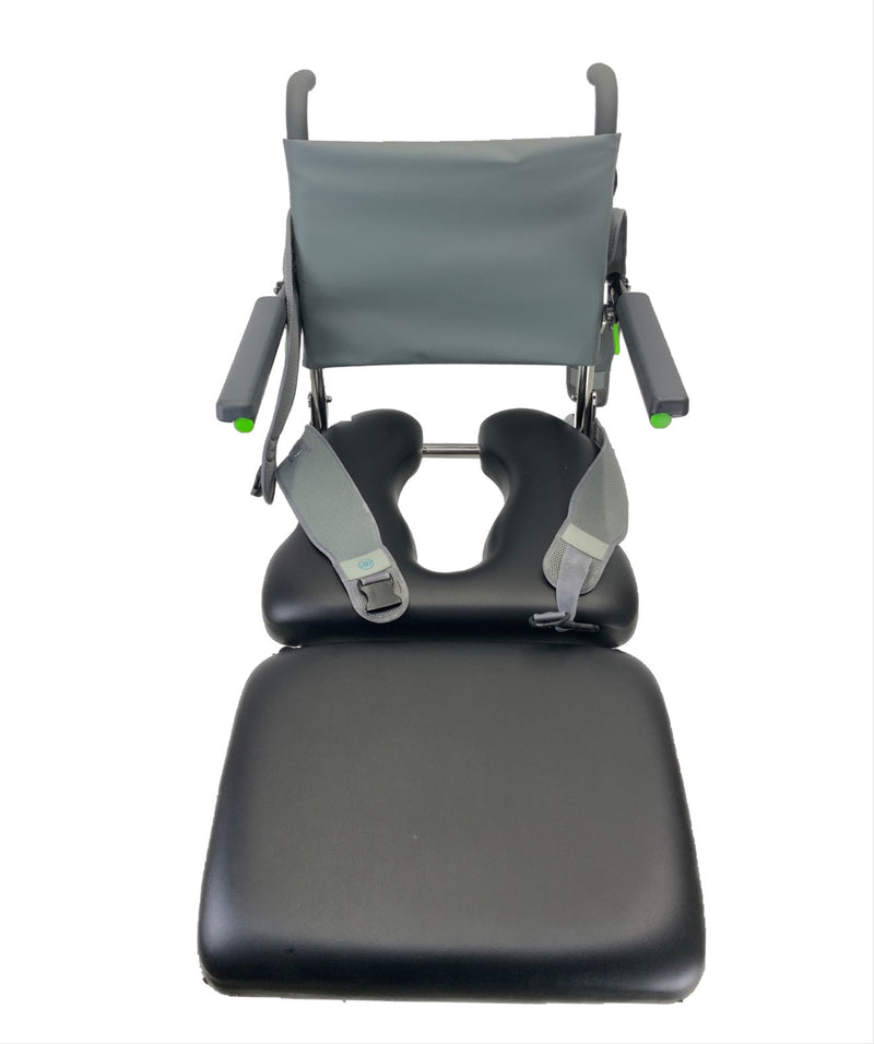 Top of RAZ-AP Shower Commode Chair | Removable Elevated Leg-Platform