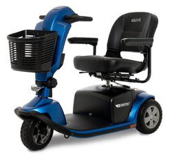 Size view of the Blue Pride Mobility Victory 10.2 3-Wheel Mobility Scooter