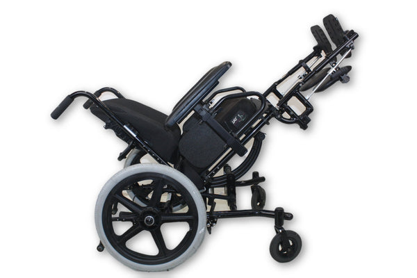 Freedom Designs CGX Tilt-In-Space Black Manual Wheelchair & Leg Elevate