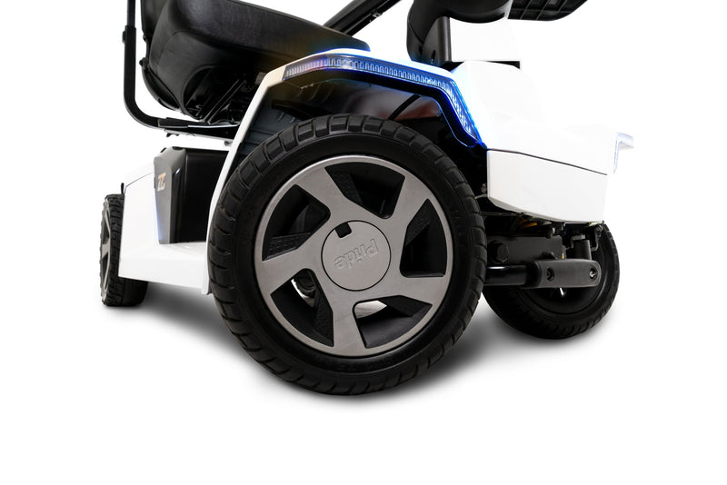 Tires of the White Pride Mobility Zero Turn 10 (ZT10) 4-Wheel Mobility Scooter